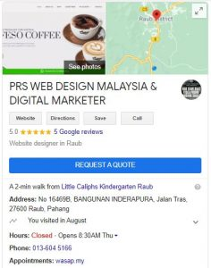 Read more about the article Servis Buat Google Maps My Business